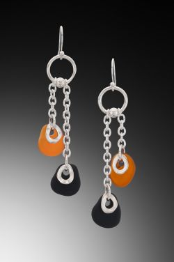 Baroque Flat Bead Chain Earrings E-32 202