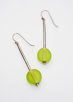 Flat Beads French Wire Earrings 'E 30' 216