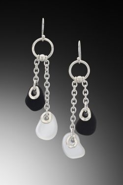 Baroque Flat Bead Chain Earrings  207